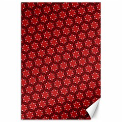 Red Passion Floral Pattern Canvas 20  x 30