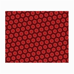Red Passion Floral Pattern Small Glasses Cloth (2 Side)