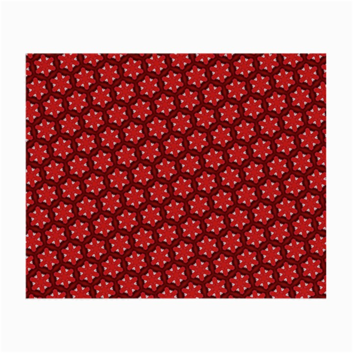 Red Passion Floral Pattern Small Glasses Cloth (2-Side)