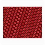 Red Passion Floral Pattern Small Glasses Cloth (2-Side) Back