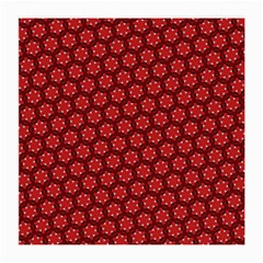 Red Passion Floral Pattern Medium Glasses Cloth