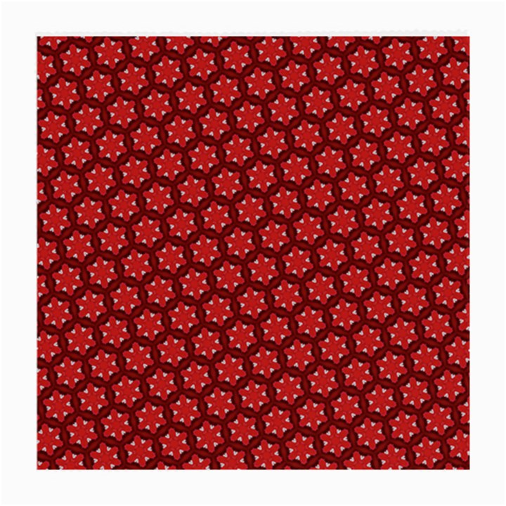Red Passion Floral Pattern Medium Glasses Cloth (2-Side)