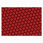 Red Passion Floral Pattern Large Glasses Cloth Front