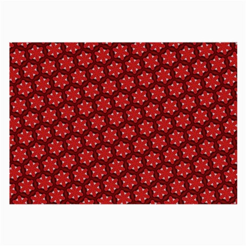 Red Passion Floral Pattern Large Glasses Cloth (2-Side)