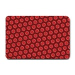 Red Passion Floral Pattern Small Doormat  24 x16 Door Mat - 1