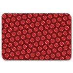 Red Passion Floral Pattern Large Doormat  30 x20 Door Mat - 1