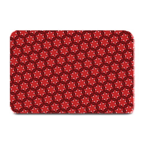Red Passion Floral Pattern Plate Mats