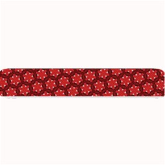 Red Passion Floral Pattern Small Bar Mats