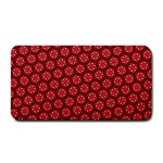 Red Passion Floral Pattern Medium Bar Mats 16 x8.5 Bar Mat - 1