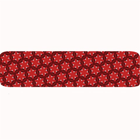 Red Passion Floral Pattern Large Bar Mats