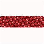 Red Passion Floral Pattern Large Bar Mats 34 x9.03 Bar Mat - 1