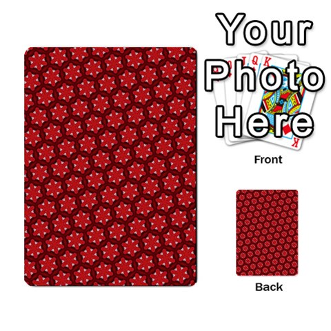 Red Passion Floral Pattern Multi-purpose Cards (Rectangle)