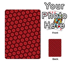 Red Passion Floral Pattern Multi Purpose Cards (rectangle)