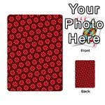 Red Passion Floral Pattern Multi-purpose Cards (Rectangle)  Back 3