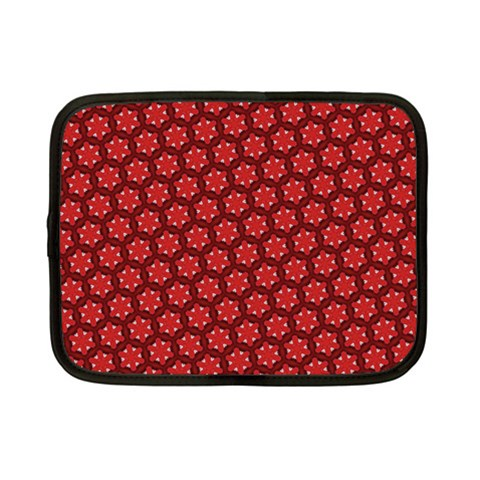 Red Passion Floral Pattern Netbook Case (Small)