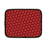 Red Passion Floral Pattern Netbook Case (Small)  Front