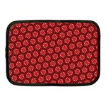 Red Passion Floral Pattern Netbook Case (Medium)  Front