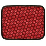 Red Passion Floral Pattern Netbook Case (Large) Front