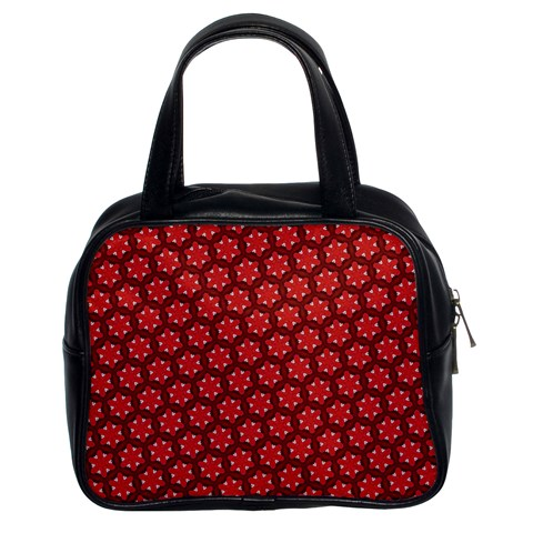 Red Passion Floral Pattern Classic Handbags (2 Sides)