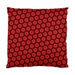 Red Passion Floral Pattern Standard Cushion Case (Two Sides) Back