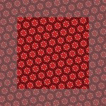 Red Passion Floral Pattern Mini Canvas 4  x 4  4  x 4  x 0.875  Stretched Canvas