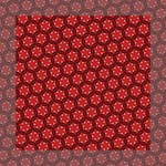 Red Passion Floral Pattern Mini Canvas 8  x 8  8  x 8  x 0.875  Stretched Canvas