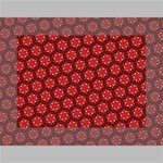 Red Passion Floral Pattern Mini Canvas 7  x 5  7  x 5  x 0.875  Stretched Canvas
