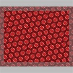Red Passion Floral Pattern Canvas 14  x 11  14  x 11  x 0.875  Stretched Canvas