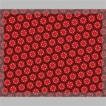 Red Passion Floral Pattern Canvas 20  x 16  20  x 16  x 0.875  Stretched Canvas