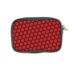Red Passion Floral Pattern Coin Purse Back