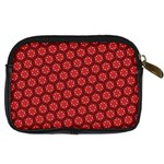 Red Passion Floral Pattern Digital Camera Cases Back