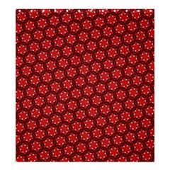 Red Passion Floral Pattern Shower Curtain 66  x 72  (Large)