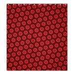 Red Passion Floral Pattern Shower Curtain 66  x 72  (Large)  58.75 x64.8 Curtain