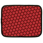 Red Passion Floral Pattern Netbook Case (XL)  Front