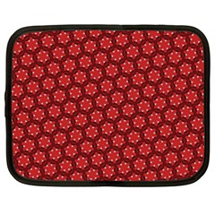 Red Passion Floral Pattern Netbook Case (xxl)