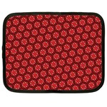 Red Passion Floral Pattern Netbook Case (XXL)  Front