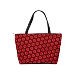 Red Passion Floral Pattern Shoulder Handbags Back