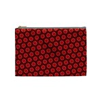 Red Passion Floral Pattern Cosmetic Bag (Medium)  Front