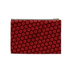Red Passion Floral Pattern Cosmetic Bag (Medium)  Back