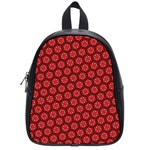 Red Passion Floral Pattern School Bags (Small)  Front