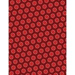 Red Passion Floral Pattern Large Memo Pads 4.125 x5.5  Memopad