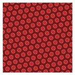 Red Passion Floral Pattern Small Memo Pads 3.75 x3.75  Memopad