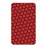 Red Passion Floral Pattern Memory Card Reader Front
