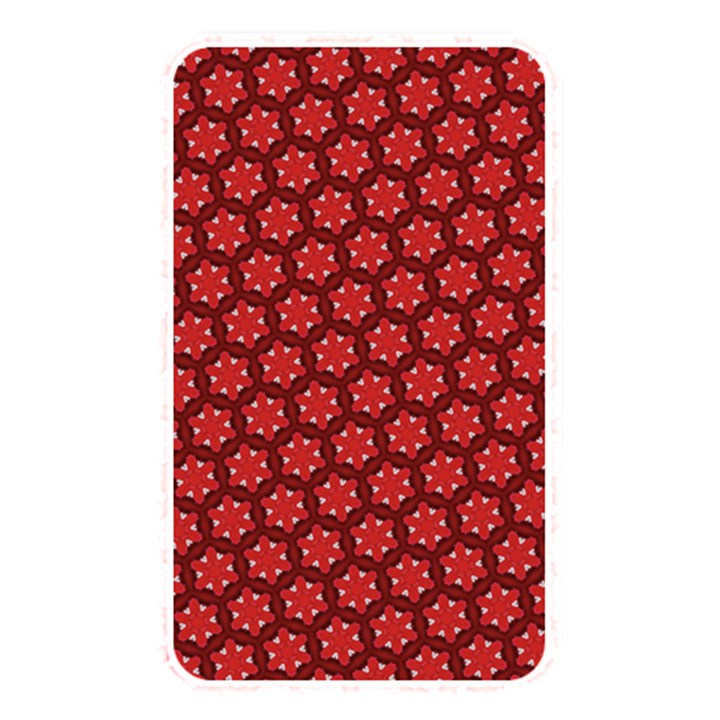 Red Passion Floral Pattern Memory Card Reader