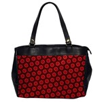 Red Passion Floral Pattern Office Handbags Front