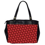 Red Passion Floral Pattern Office Handbags (2 Sides)  Back