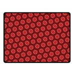 Red Passion Floral Pattern Fleece Blanket (Small) 50 x40 Blanket Front