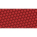 Red Passion Floral Pattern Magic Photo Cubes Long Side 3