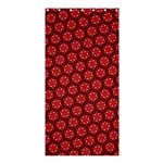 Red Passion Floral Pattern Shower Curtain 36  x 72  (Stall)  33.26 x66.24 Curtain