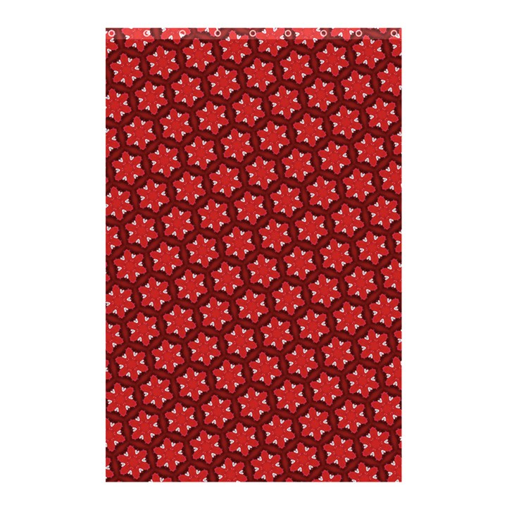 Red Passion Floral Pattern Shower Curtain 48  x 72  (Small)